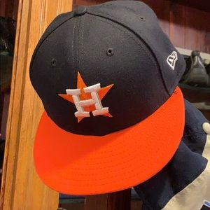 Houston astros new era hat 7 1/4 fitted nwot
